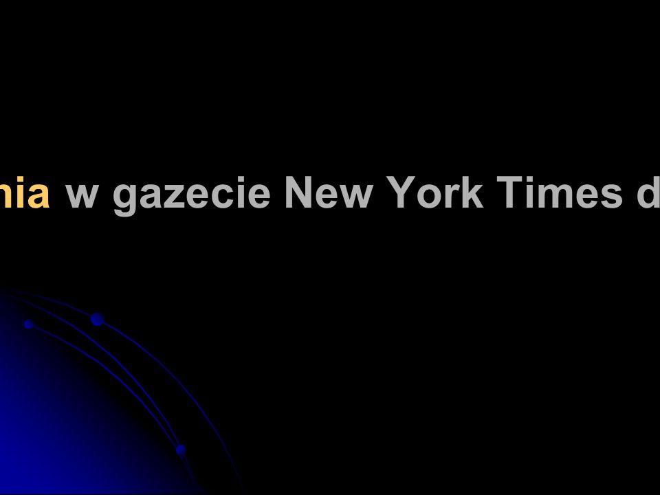 Szacuje się, że w ciągu tygodnia w gazecie New York Times drukuje się więcej informacji...
