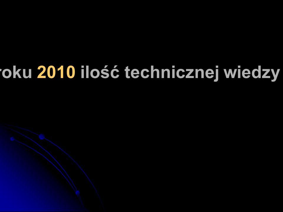 Szacuje się, że w roku 2010 ilość technicznej wiedzy będzie się podwajać co 72 godziny.
