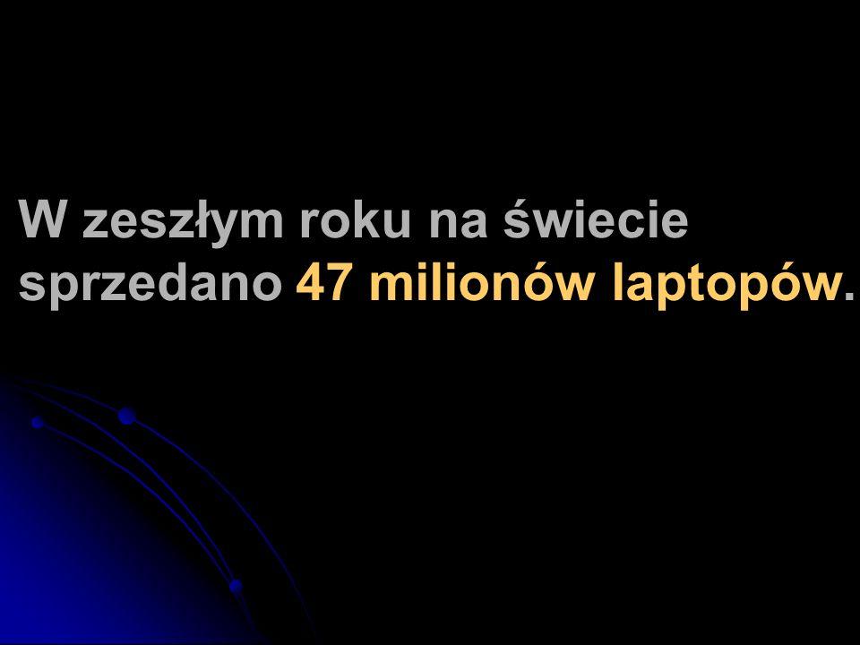 W zeszłym roku na świecie sprzedano 47 milionów laptopów.