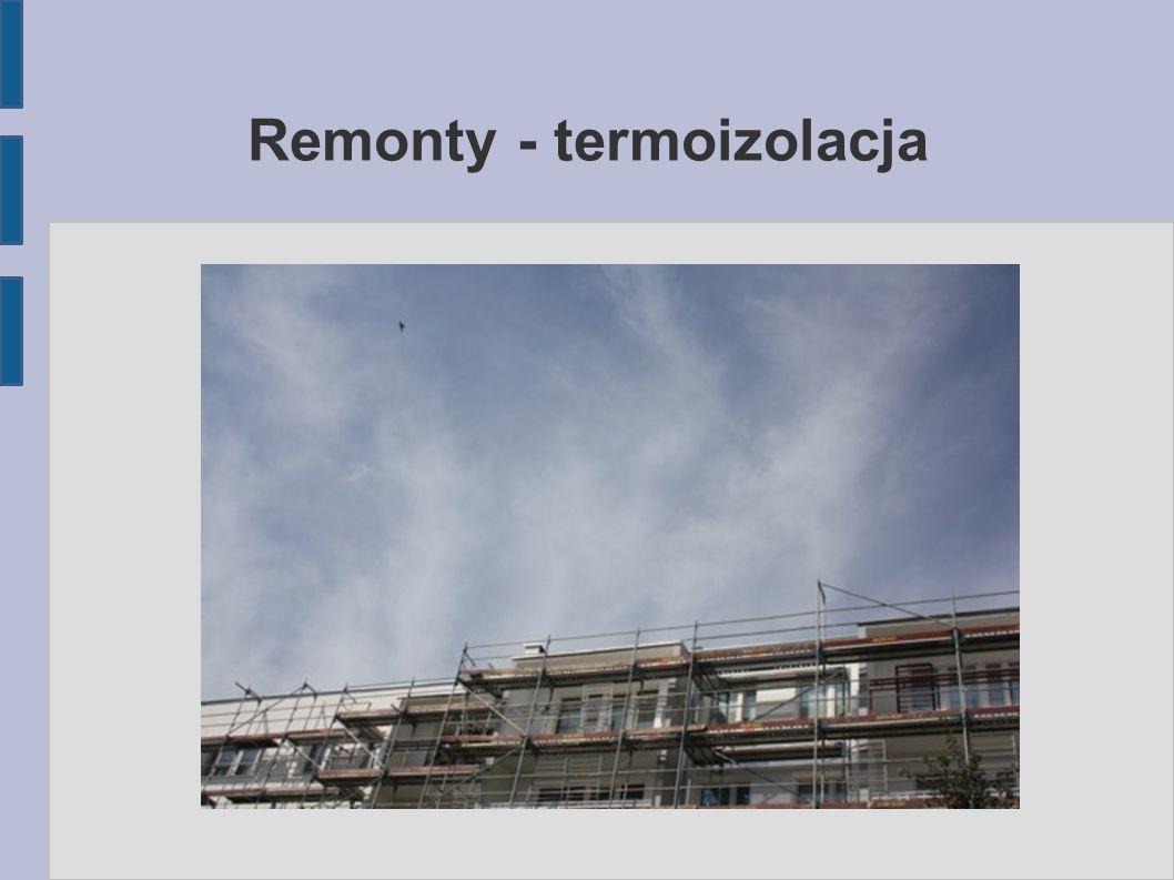 Remonty - termoizolacja