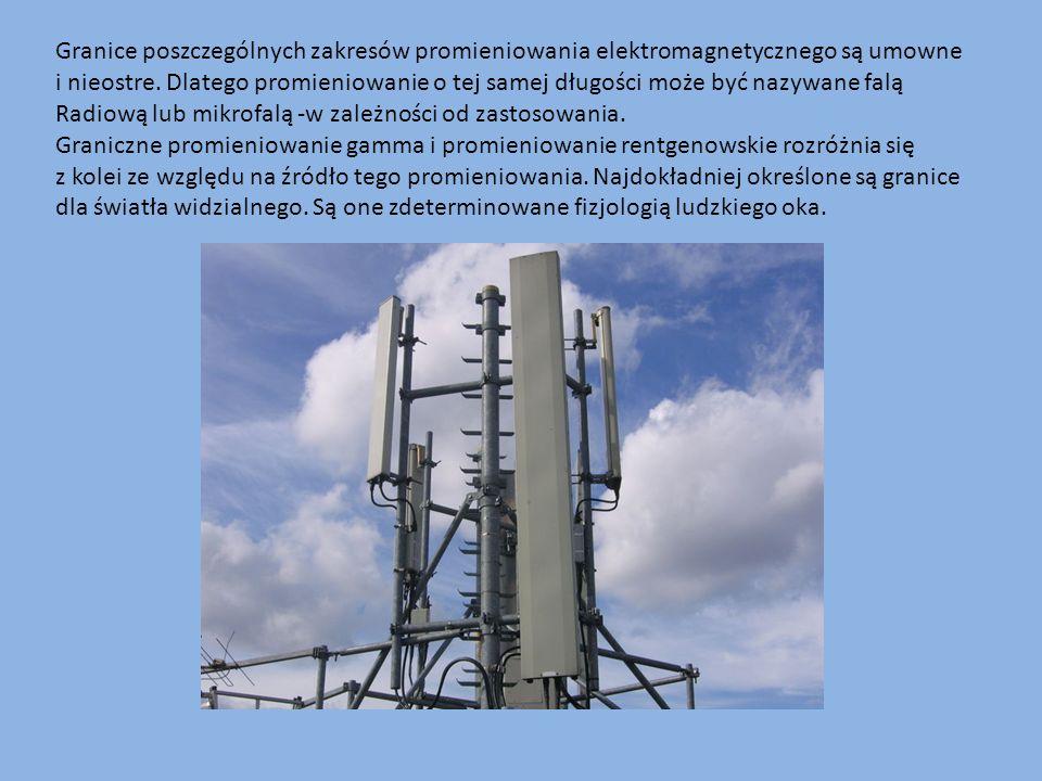 Granice poszczególnych zakresów promieniowania elektromagnetycznego są umowne i nieostre. Dlatego promieniowanie o tej samej długości może być nazywan
