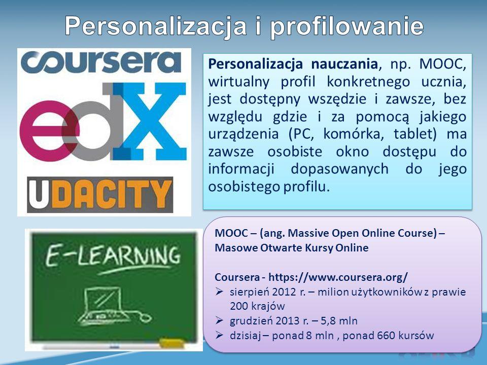Personalizacja nauczania, np.