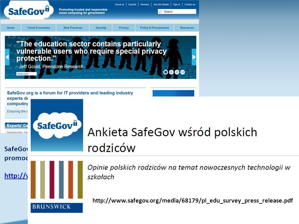 SafeGov.org jest forum dla dostawców IT i branżowych ekspertów wiodących, poświęcona promocji zaufanych i odpowiedzialnych rozwiązań cloud computing dla sektora publicznego.