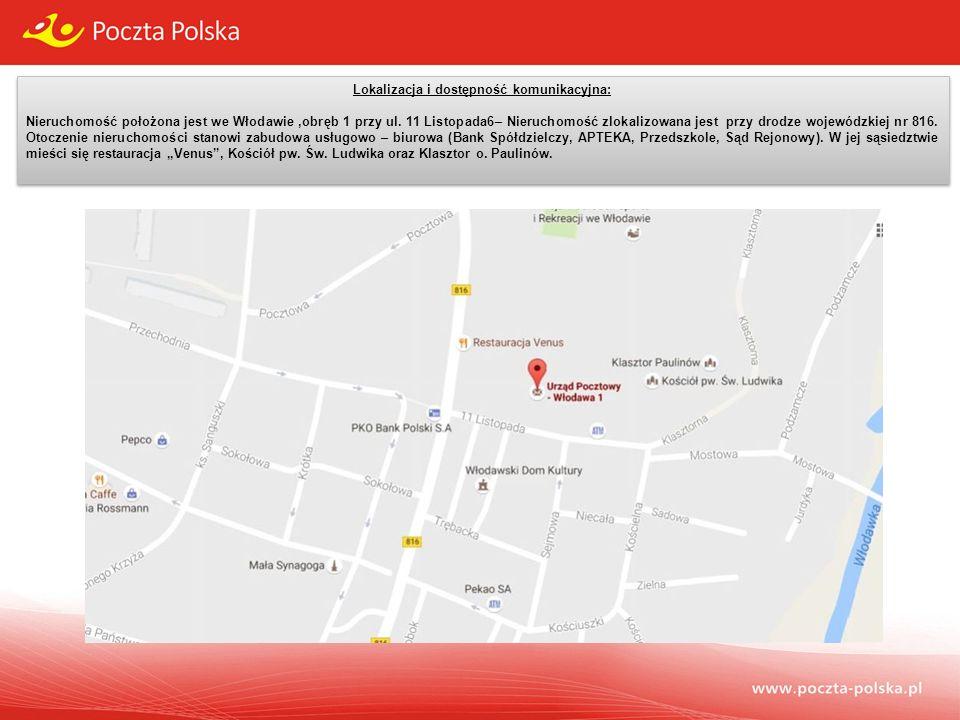 Lokalizacja i dostępność komunikacyjna: Nieruchomość położona jest we Włodawie,obręb 1 przy ul.
