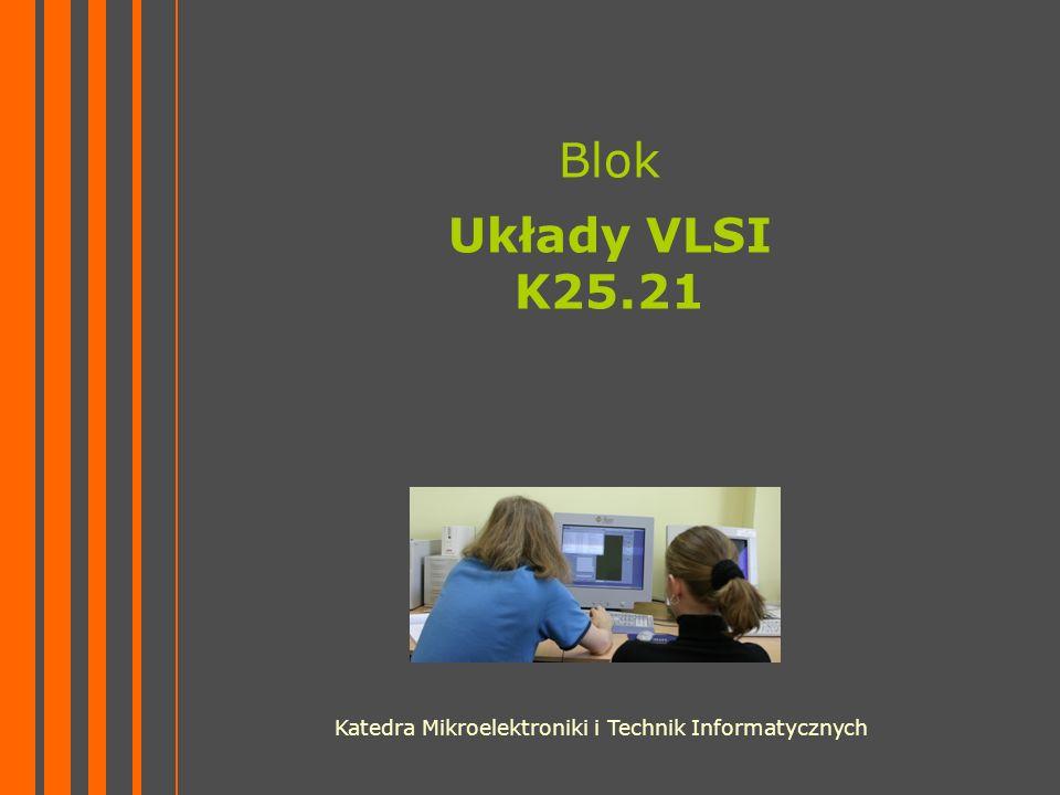 Blok Układy VLSI K25.21 Katedra Mikroelektroniki i Technik Informatycznych