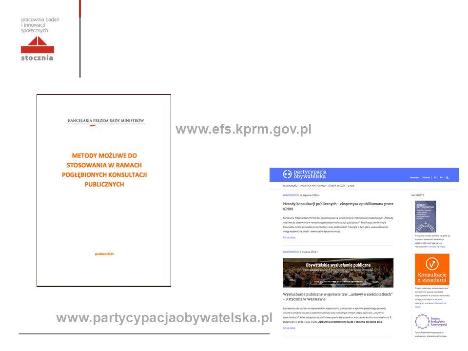 www.efs.kprm.gov.pl www.partycypacjaobywatelska.pl