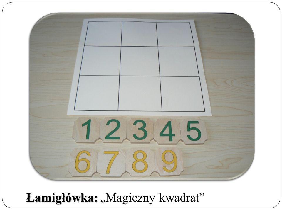 """Łamigłówka: Łamigłówka: """"Magiczny kwadrat"""