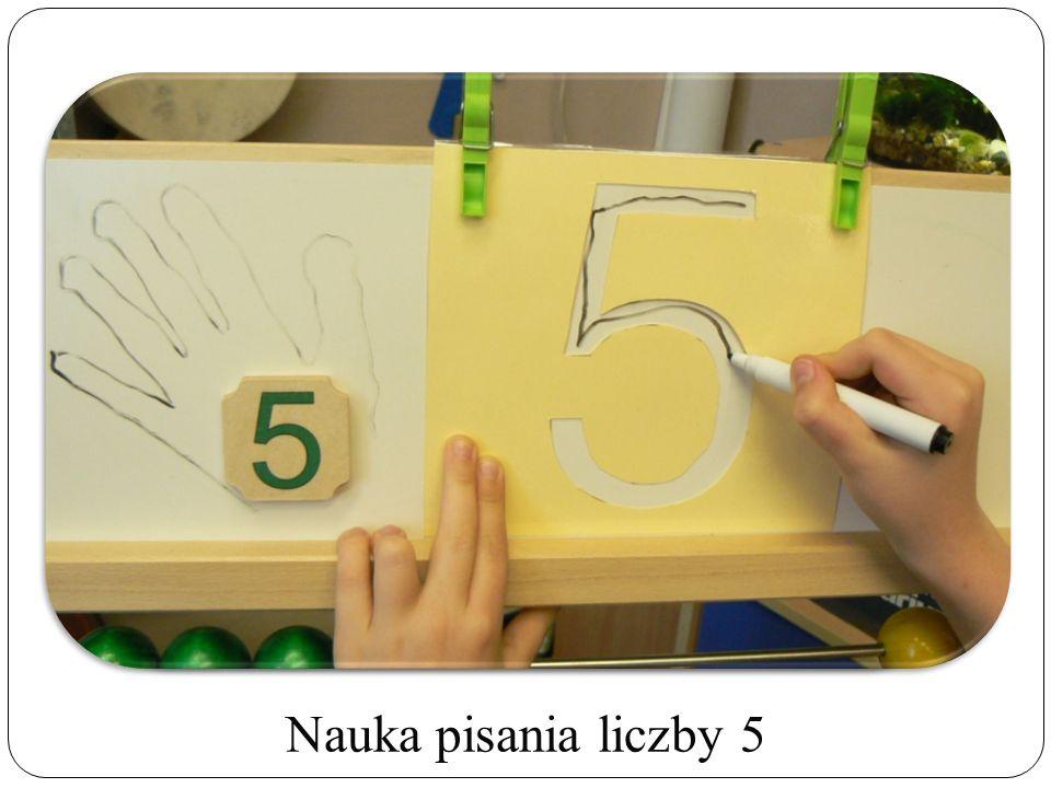 Nauka pisania liczby 5