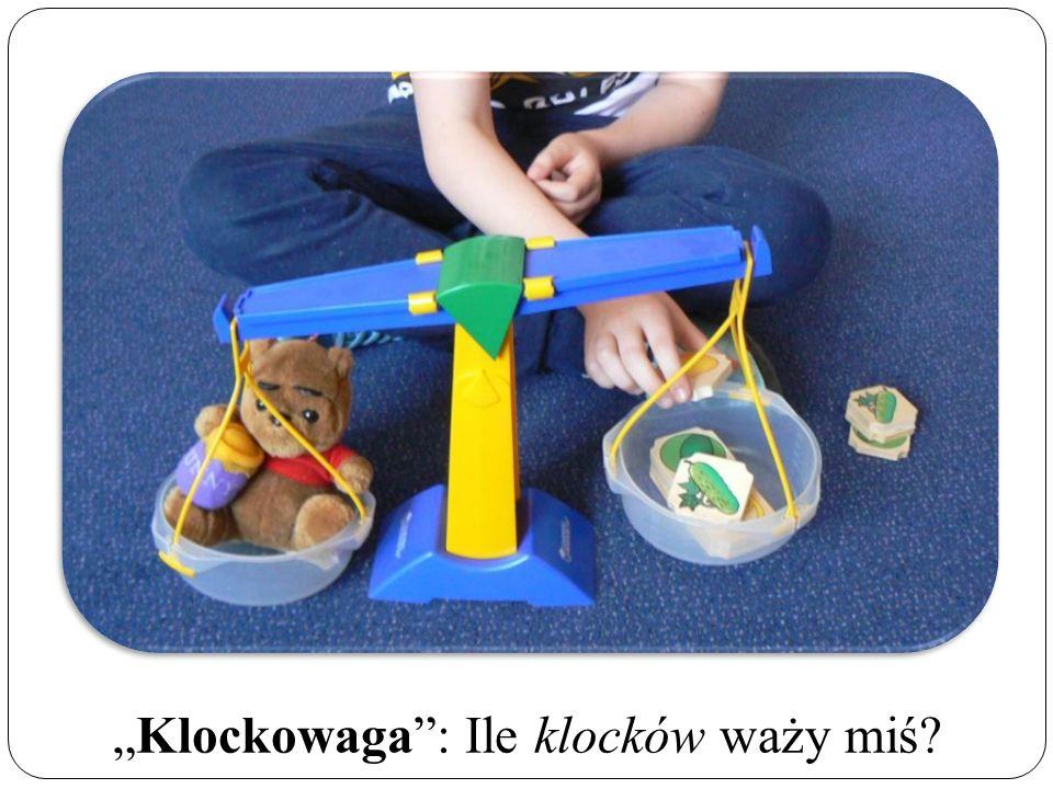 """""""Klockowaga : Ile klocków waży miś"""