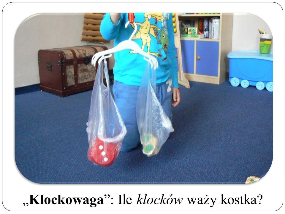 """""""Klockowaga : Ile klocków waży kostka"""