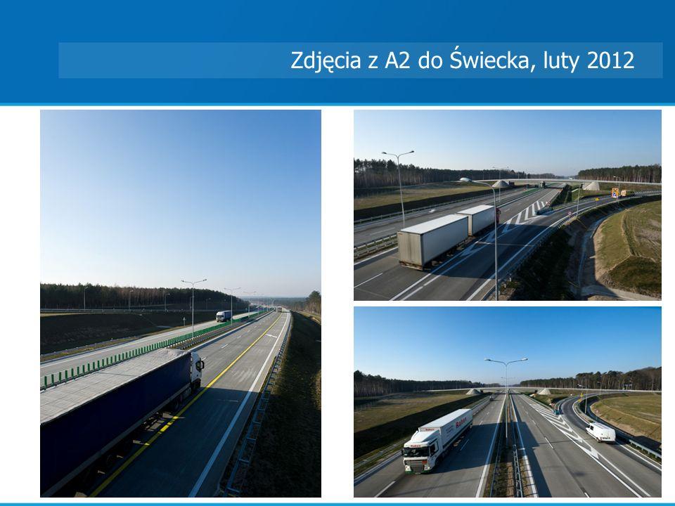 Zdjęcia z A2 do Świecka, luty 2012