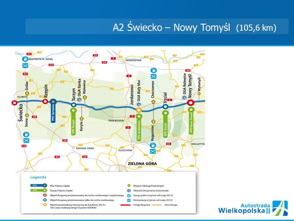 A2 Świecko – Nowy Tomyśl (105,6 km)