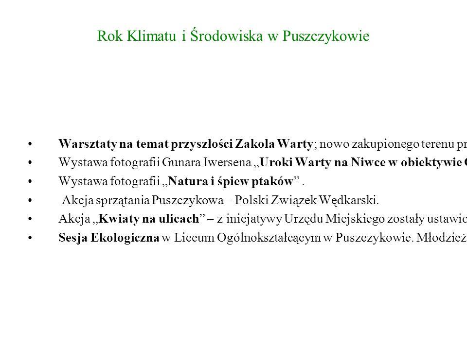 Rok Klimatu i Środowiska w Puszczykowie Warsztaty na temat przyszłości Zakola Warty; nowo zakupionego terenu przez miasto.
