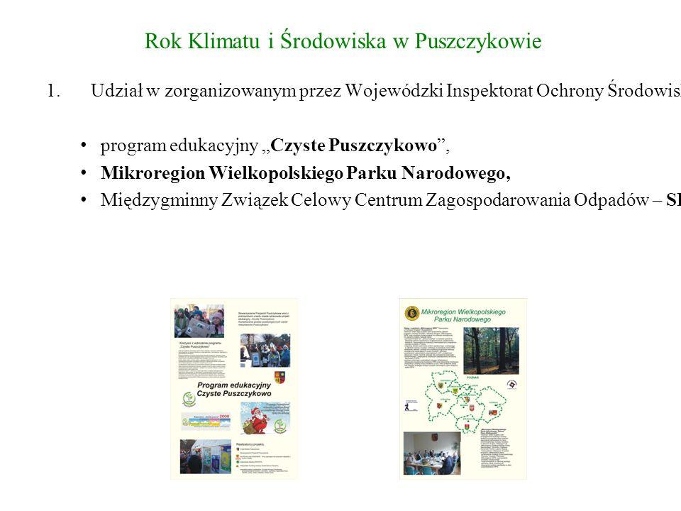 """Rok Klimatu i Środowiska w Puszczykowie Projekt """"Ekologia inaczej."""