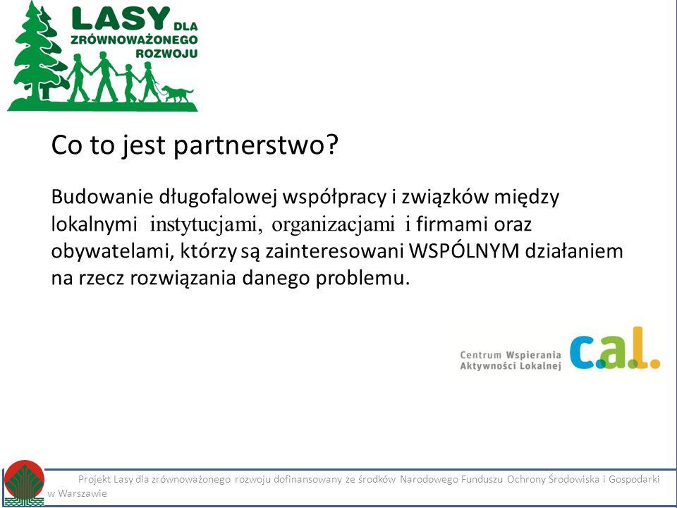 Kliknij, aby edytować styl Projekt Lasy dla zrównoważonego rozwoju dofinansowany ze środków Narodowego Funduszu Ochrony Środowiska i Gospodarki Wodnej w Warszawie Imię i nazwisko Projekt Lasy dla zrównoważonego rozwoju dofinansowany ze środków Narodowego Funduszu Ochrony Środowiska i Gospodarki Wodnej w Warszawie Co to jest partnerstwo.