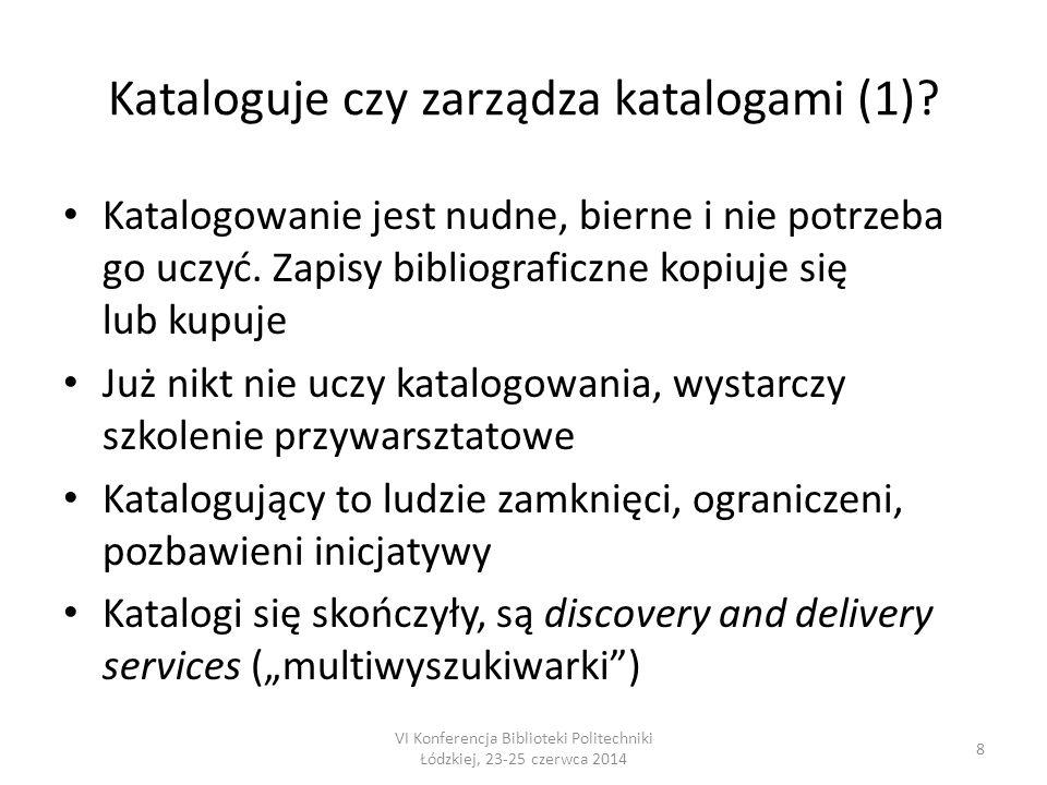 Kataloguje czy zarządza katalogami (2).