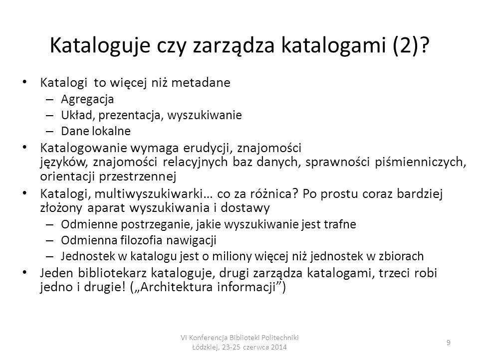 20 VI Konferencja Biblioteki Politechniki Łódzkiej, 23-25 czerwca 2014