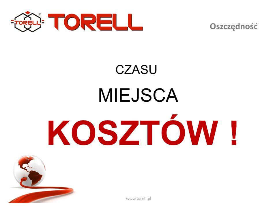 Oszczędność www.torell.pl CZASU MIEJSCA KOSZTÓW !