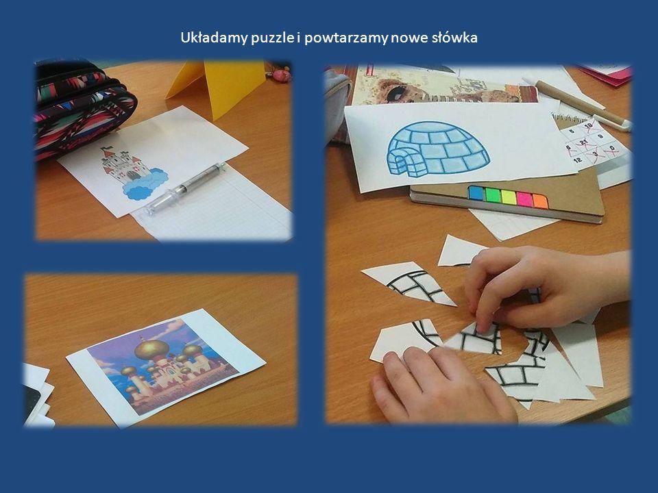 Układamy puzzle i powtarzamy nowe słówka