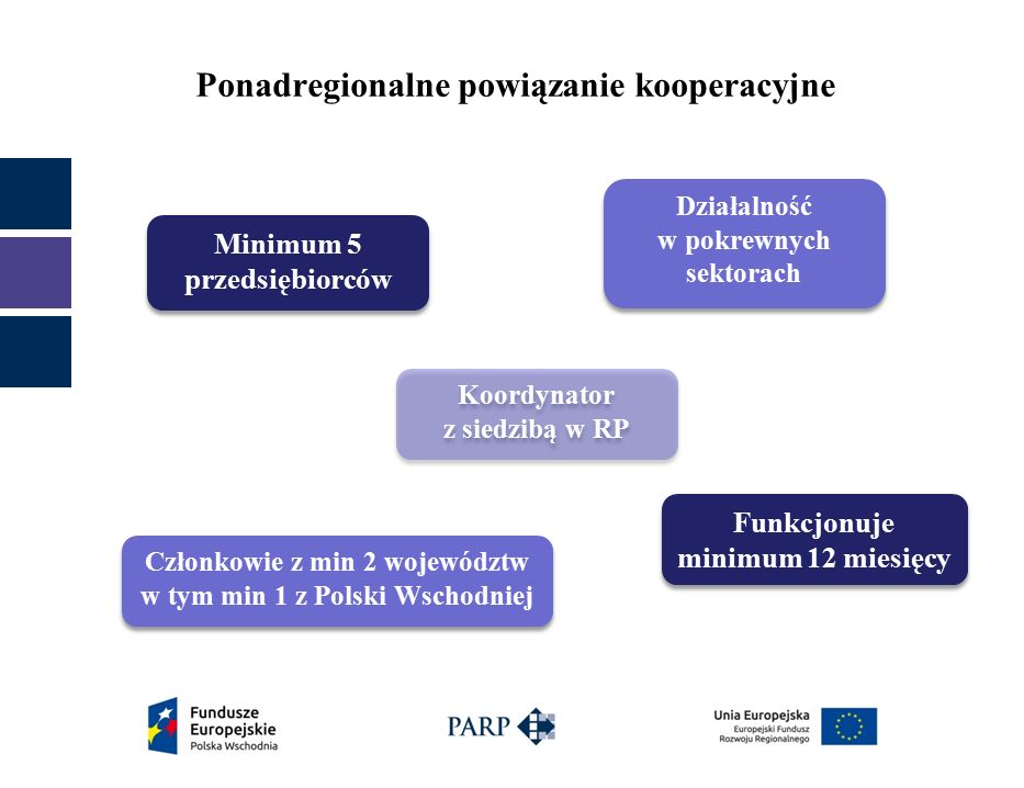 PROJEKT – wymagania i warunki Realizowane na terytorium makroregionu Polski Wschodniej województwa:  lubelskie,  podkarpackie,  podlaskie,  świętokrzyskie,  warmińsko–mazurskie.