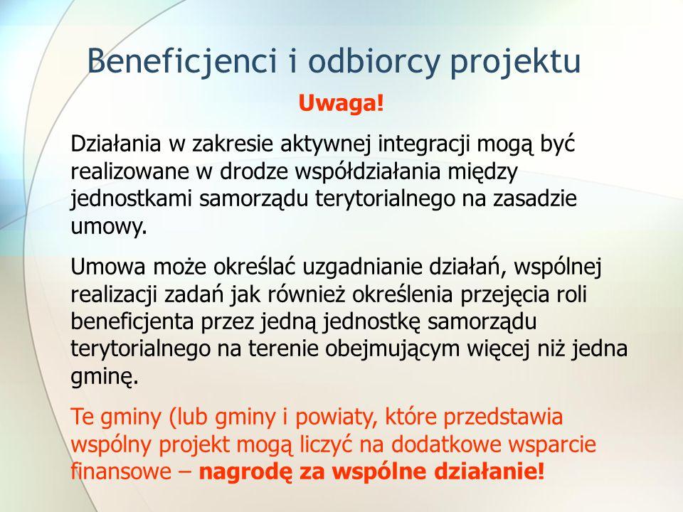 Beneficjenci i odbiorcy projektu Uwaga.