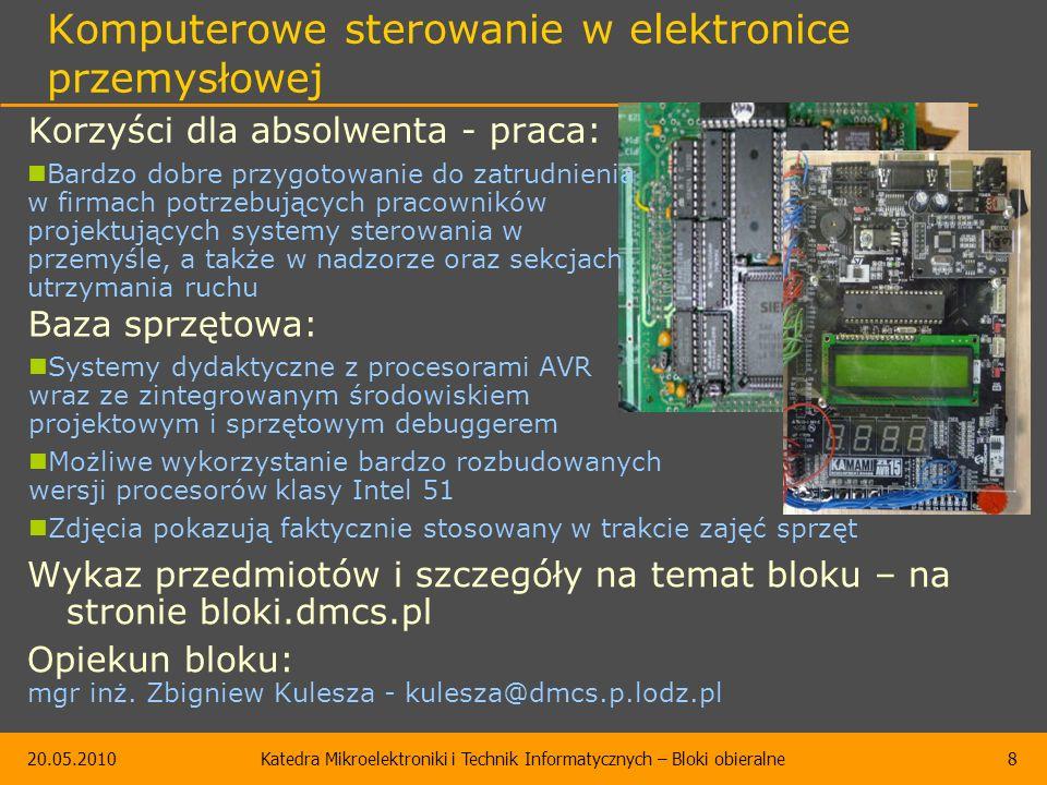 Blok Układy elektroniki przemysłowej K25.18 Katedra Mikroelektroniki i Technik Informatycznych
