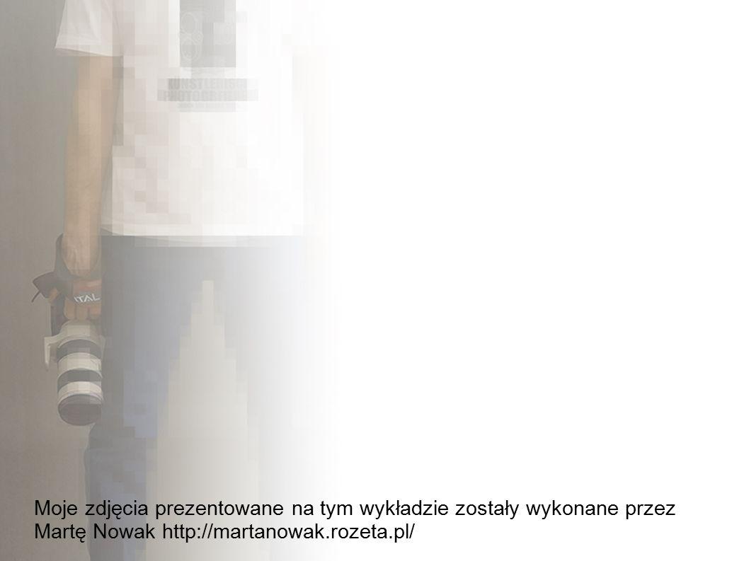 Moje zdjęcia prezentowane na tym wykładzie zostały wykonane przez Martę Nowak http://martanowak.rozeta.pl/