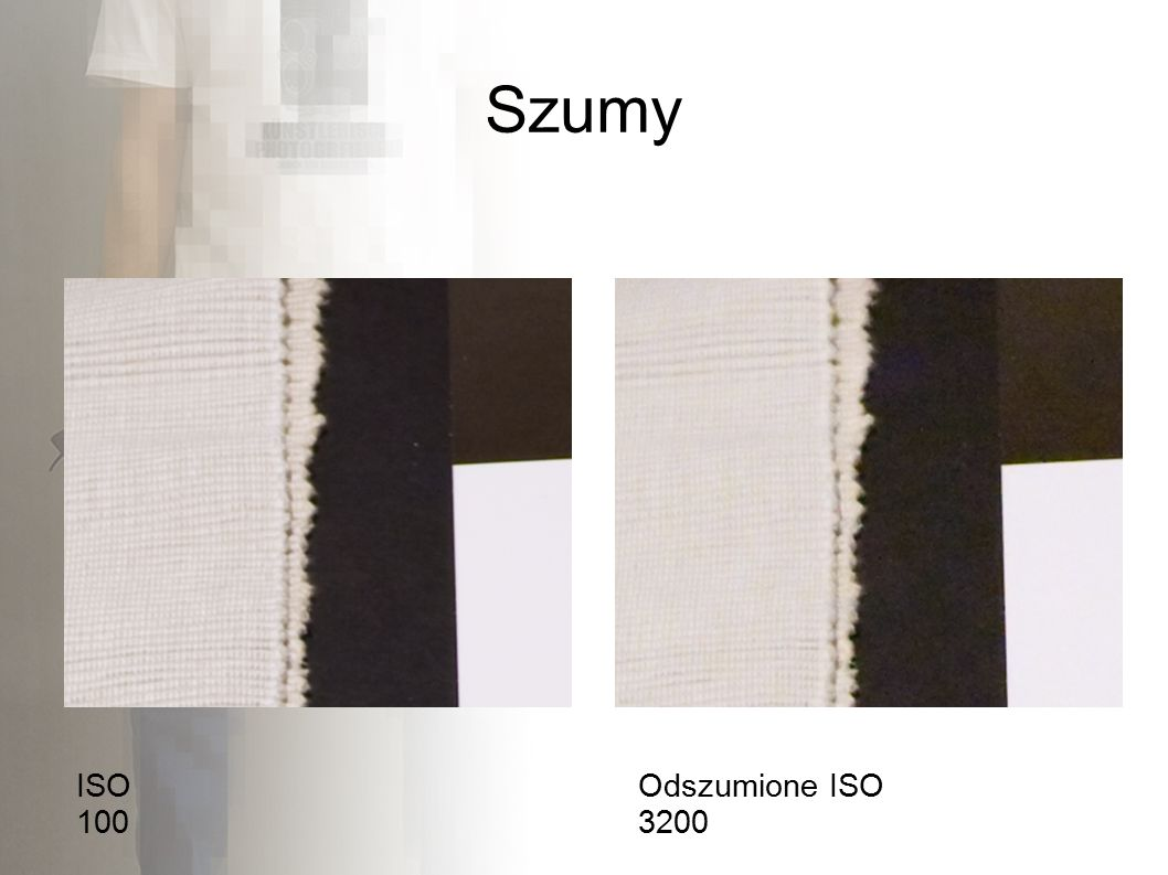 Szumy ISO 100 Odszumione ISO 3200