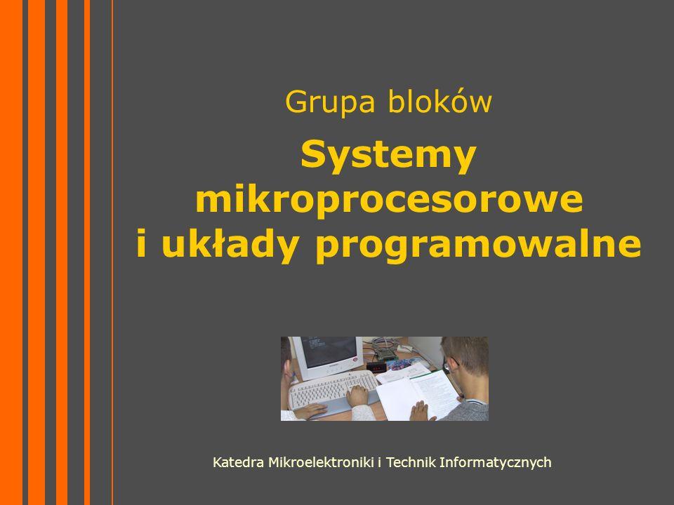 Grupa bloków Systemy mikroprocesorowe i układy programowalne Katedra Mikroelektroniki i Technik Informatycznych