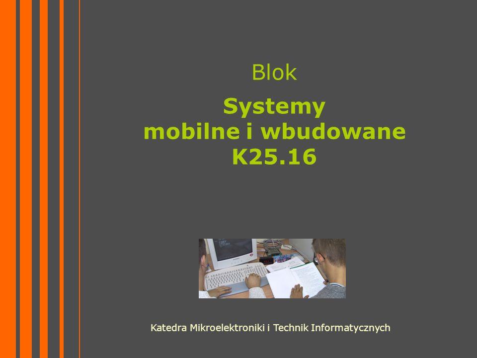 Blok Systemy mobilne i wbudowane K25.16 Katedra Mikroelektroniki i Technik Informatycznych