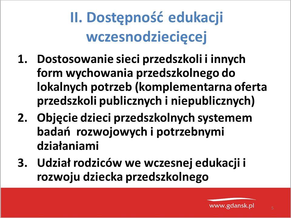6 III.Wysoka jakość edukacji szkolnej 1.Podniesienie jakości i efektywności pracy szkół 2.