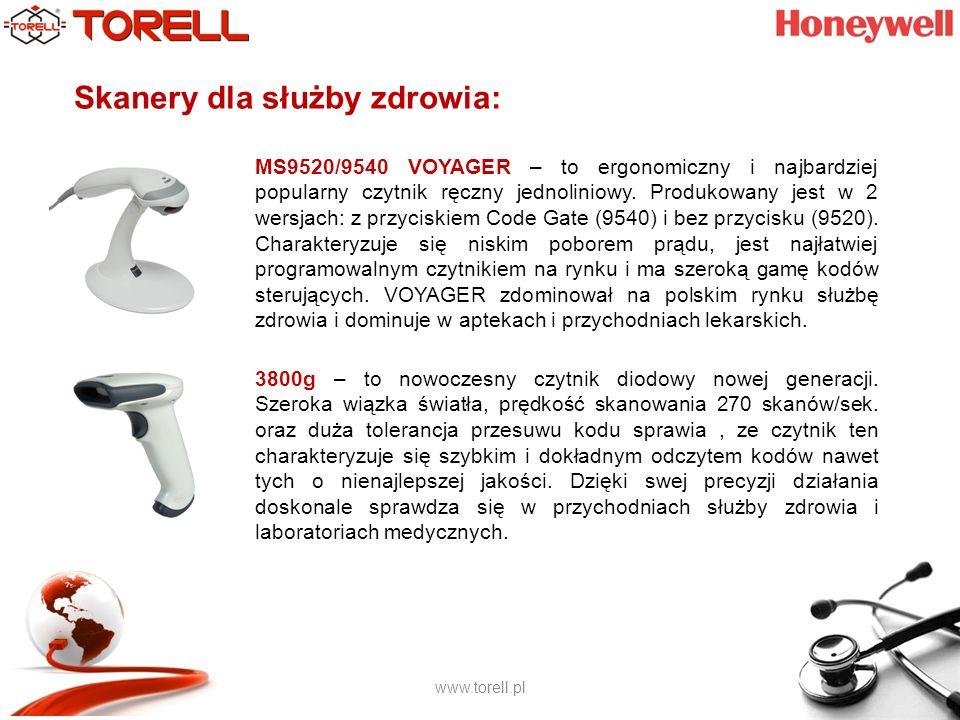 www.torell.pl Skanery dla służby zdrowia: MS9520/9540 VOYAGER – to ergonomiczny i najbardziej popularny czytnik ręczny jednoliniowy.