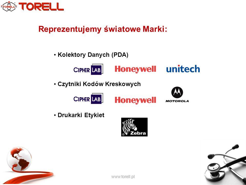 www.torell.pl Reprezentujemy światowe Marki: Kolektory Danych (PDA) Czytniki Kodów Kreskowych Drukarki Etykiet