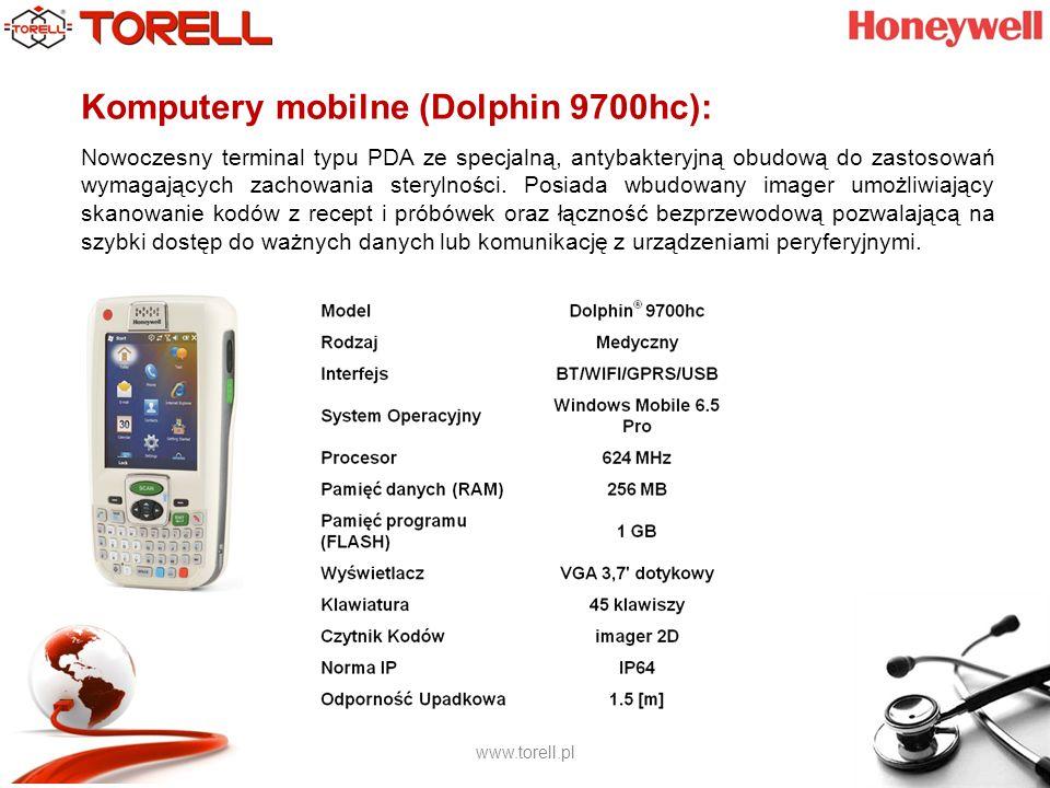 www.torell.pl Komputery mobilne (Dolphin 9900hc): Komputer przenośny stworzony specjalnie do zastosowań medycznych.