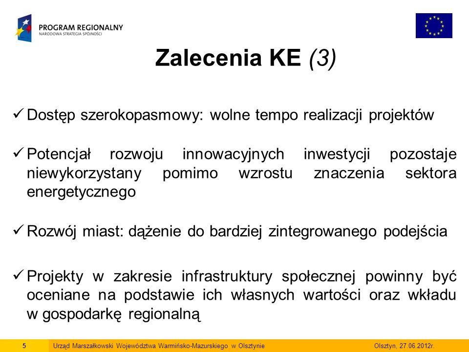 6Urząd Marszałkowski Województwa Warmińsko-Mazurskiego w Olsztynie Olsztyn, 27.06.2012r.
