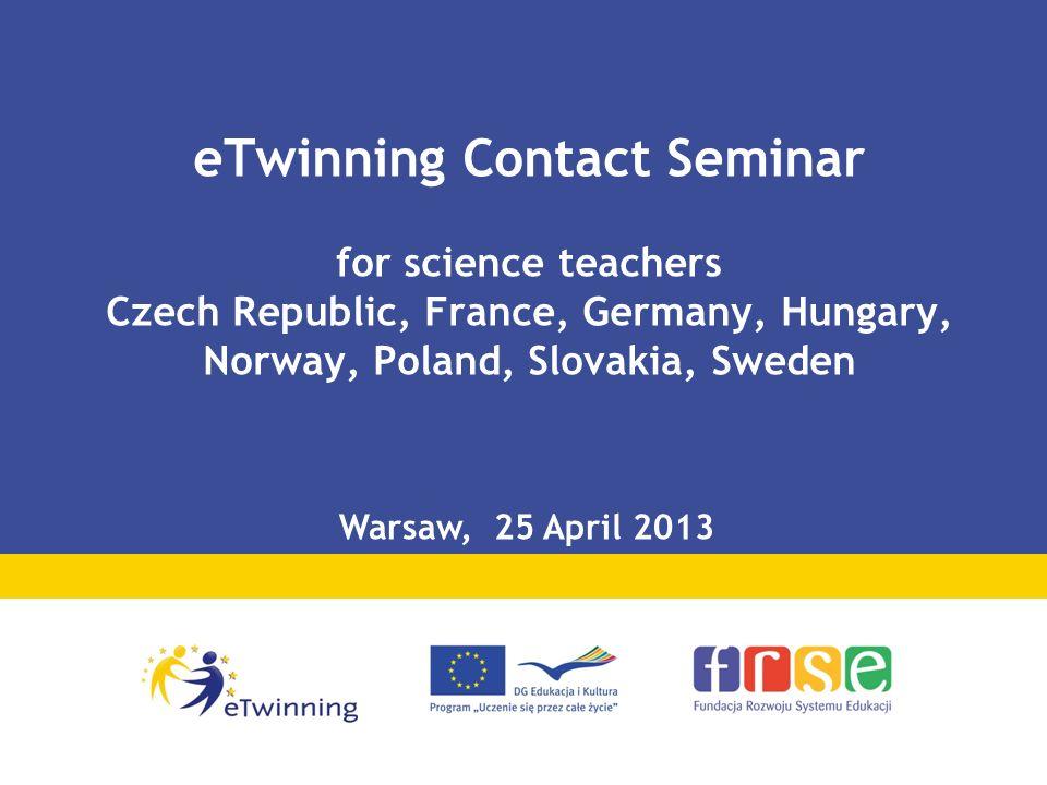 eTwinning – social network for European teachers Europe: teachers – 200 635 schools – 104 725 projects - 27 854 Poland: users – 20 722 schools – 10 000