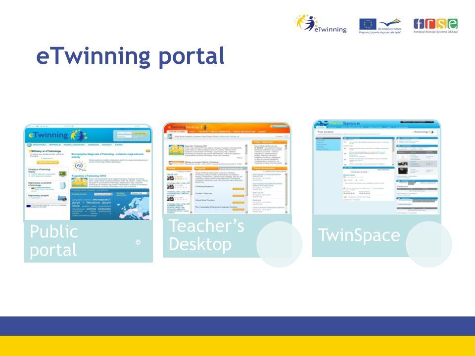 eTwinning portal Public portal Teacher's Desktop TwinSpace