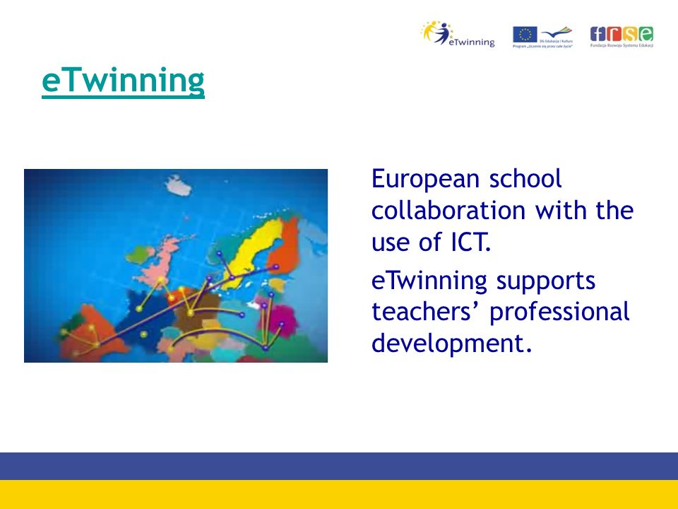 List of eTwinning Groups -eTwinning project trailers -eTwinning and Internet safety -Integration of EU projects in the curriculum -Creative Classroom -Maths & Science -Humanities -Experimental sciences -Groupe Francophone -Groups for Head Teachers, Librarians -The Community of European Language Teachers