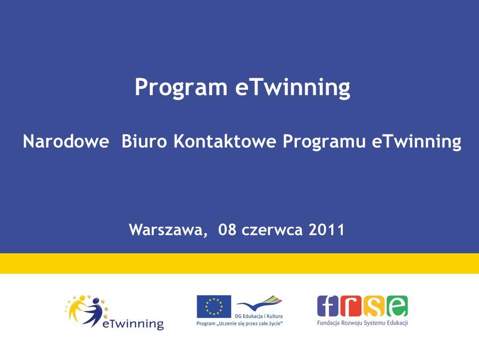 Program eTwinning Narodowe Biuro Kontaktowe Programu eTwinning Warszawa, 08 czerwca 2011