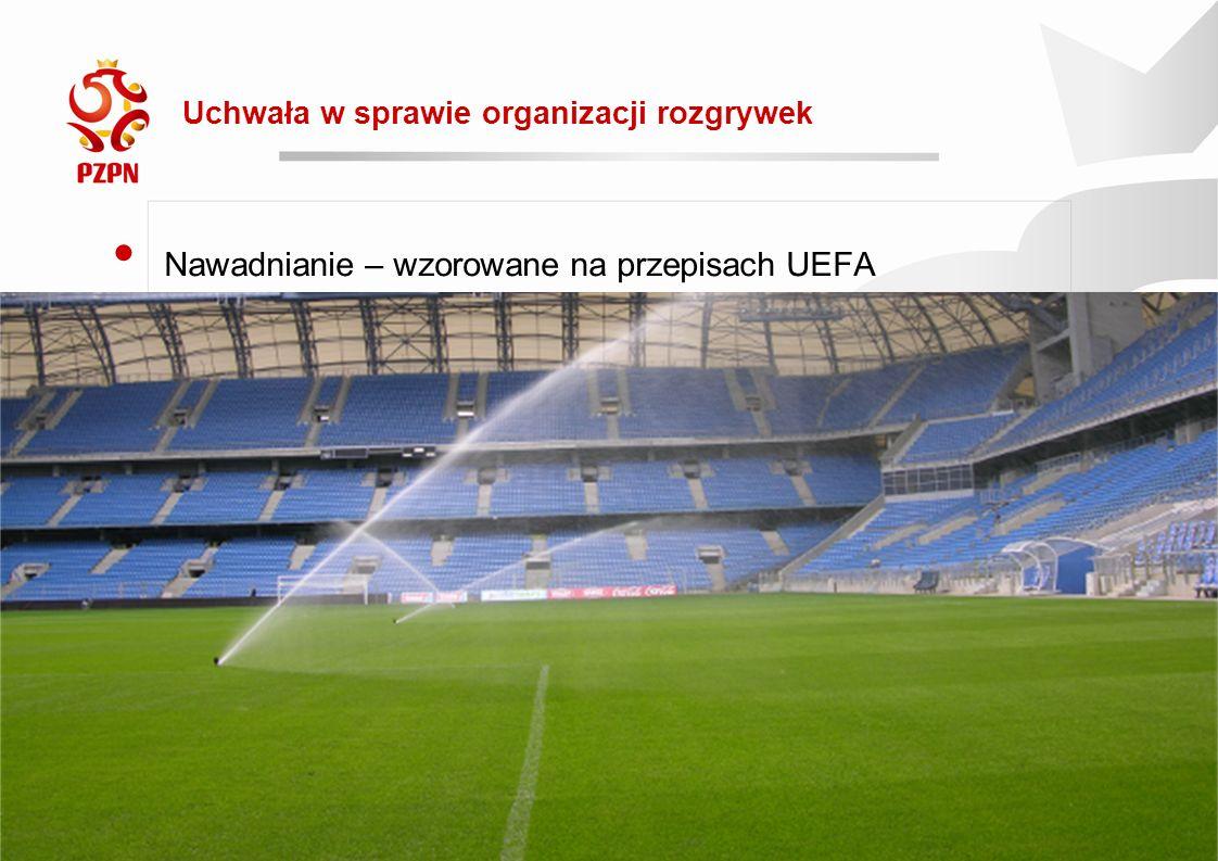 2016-09-19 Rewolucja 2016/17 Uchwała w sprawie organizacji rozgrywek Nawadnianie – wzorowane na przepisach UEFA