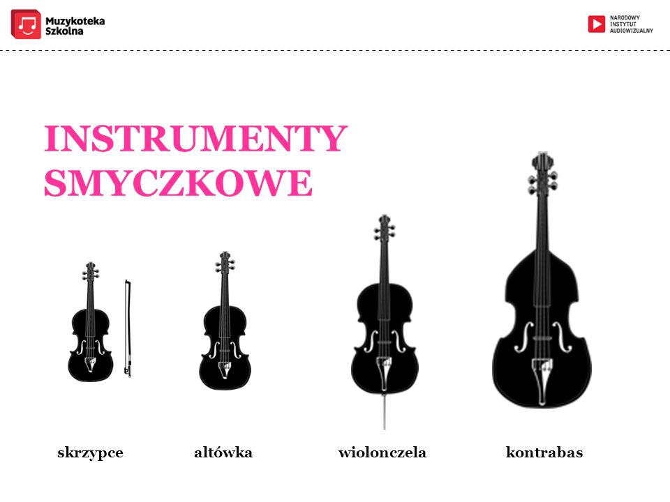 INSTRUMENTY SMYCZKOWE skrzypce altówka wiolonczela kontrabas