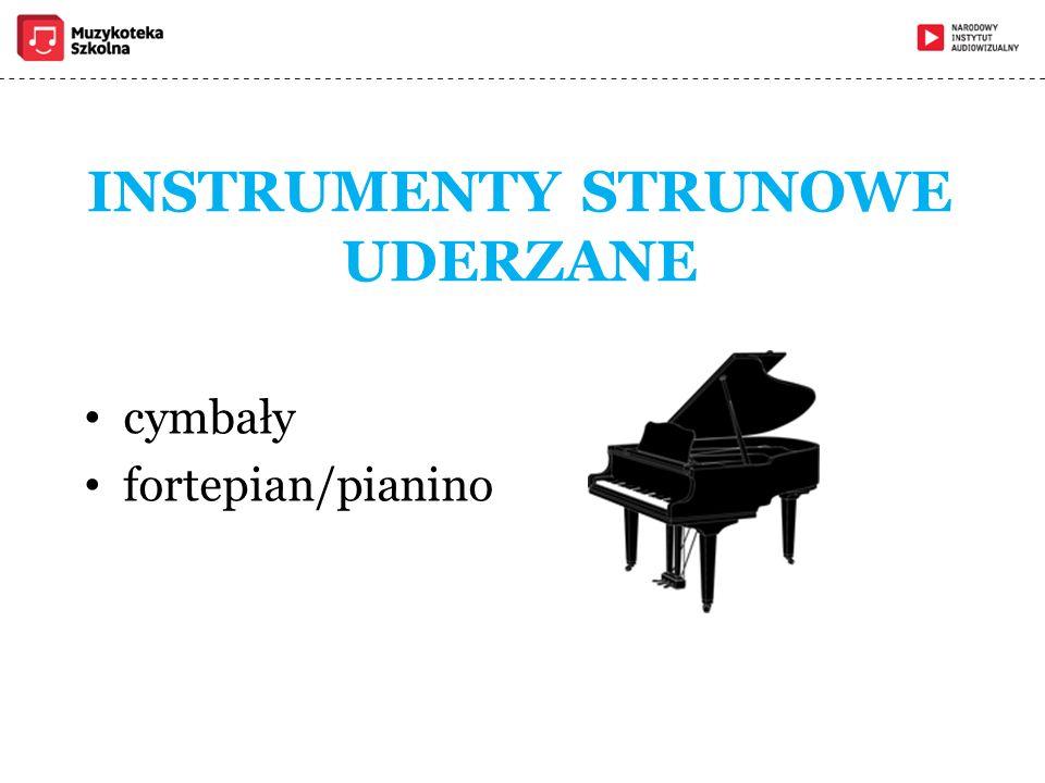 INSTRUMENTY STRUNOWE UDERZANE cymbały fortepian/pianino