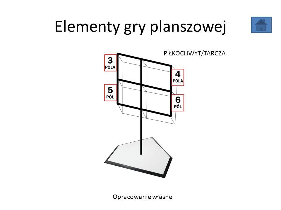 Elementy gry planszowej Opracowanie własne PIŁKOCHWYT/TARCZA