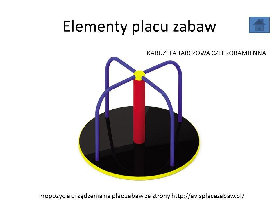 Elementy placu zabaw Propozycja urządzenia na plac zabaw ze strony http://avisplacezabaw.pl/ KARUZELA TARCZOWA CZTERORAMIENNA
