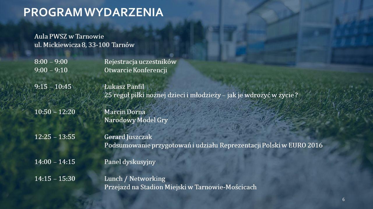 PROGRAM WYDARZENIA Aula PWSZ w Tarnowie ul.