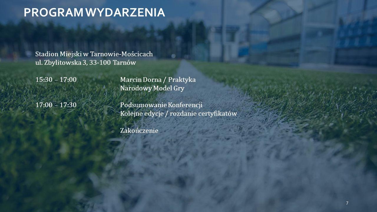 PROGRAM WYDARZENIA Stadion Miejski w Tarnowie-Mościcach ul.