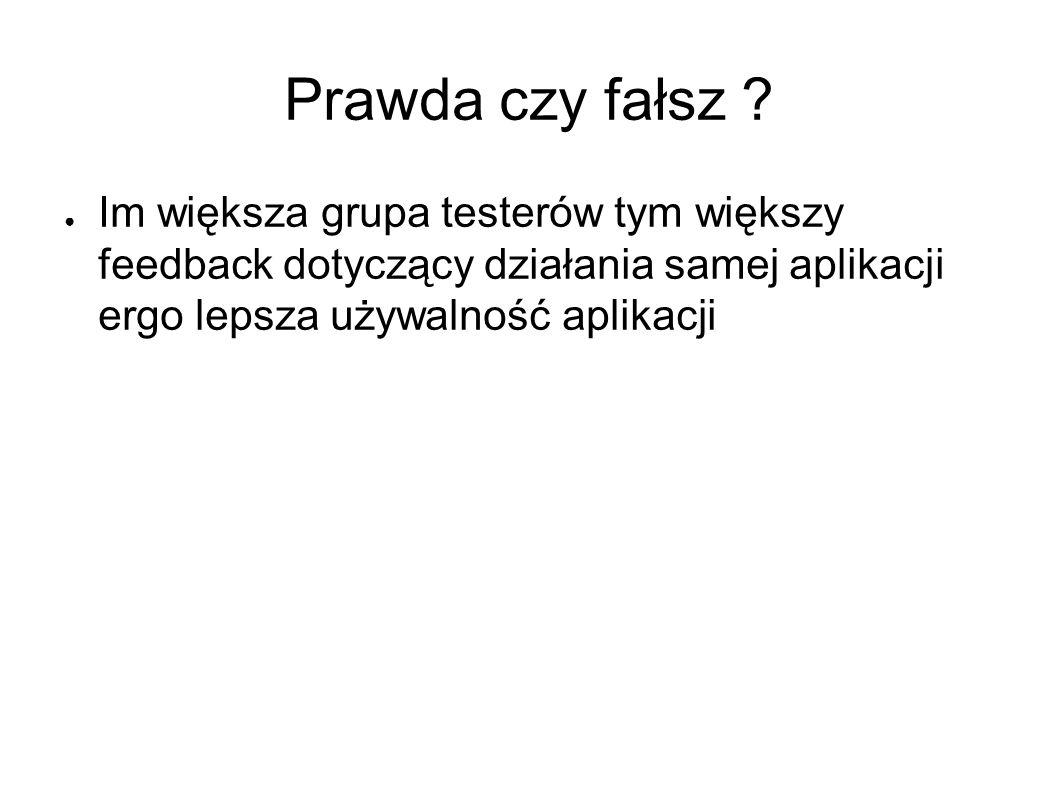 Prawda czy fałsz .