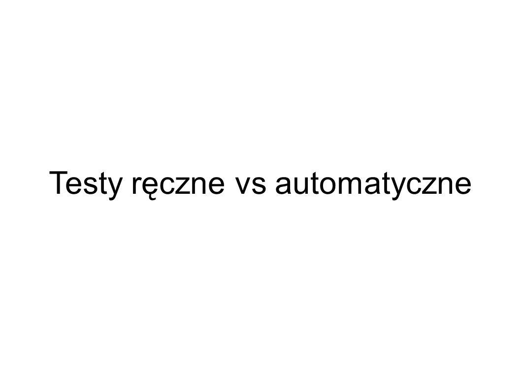 Testy ręczne vs automatyczne