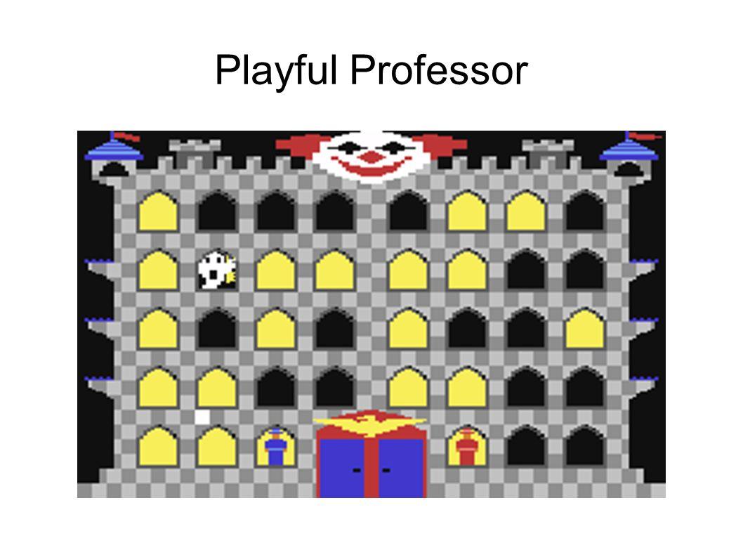 ● Gra z 1984 roku ( http://www.atarimania.com/game-atari-400- 800-xl-xe-playful-professor-math-tutor_4009.html ) ● Funkcje gry: – Dojdź postacią do ducha, a potem do wyjścia – Na każdym polu rozwiąż zadanie matematyczne – Wybieraj poziom trudności do poziomu nauczania(szkoła) – Błędne rozwiązanie powoduje tłumaczenie zadania ● Ta gra zaciekawiła mnie matematyką i rozwiązywaniem problemów