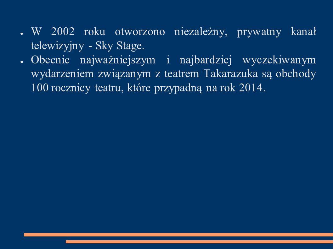 ● W 2002 roku otworzono niezależny, prywatny kanał telewizyjny - Sky Stage. ● Obecnie najważniejszym i najbardziej wyczekiwanym wydarzeniem związanym